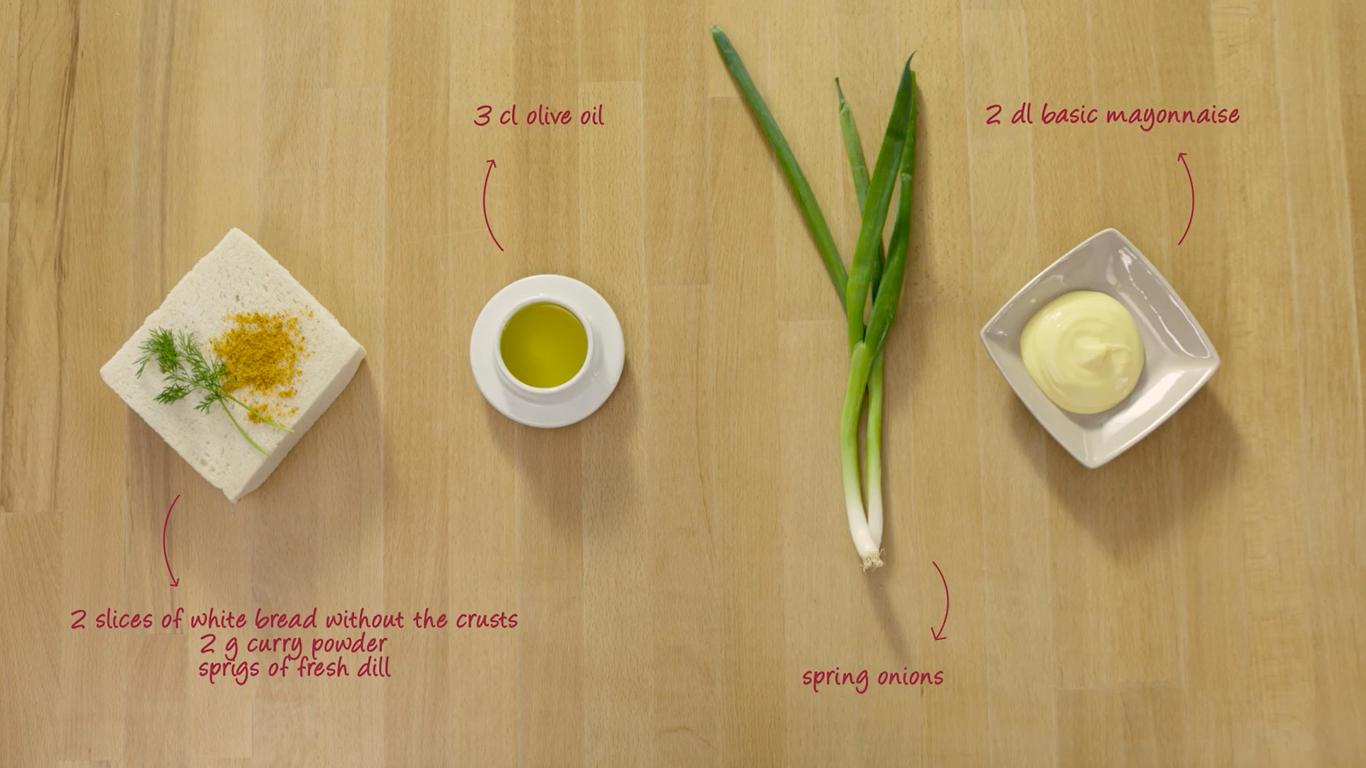 Ingredientes para la mayonesa